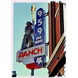 95.9 The Ranch Radio Sign
