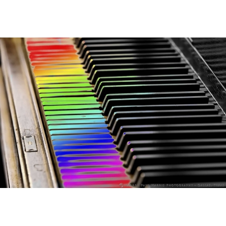 Piano Keys Rainbow Selective Color
