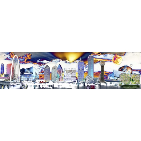 Alien Skyline Panorama Triptych 6' or 12'
