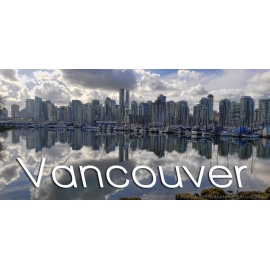Vancouver Skyline With Text