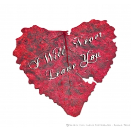 I Will Never Leave You - Heart Shaped Leaf