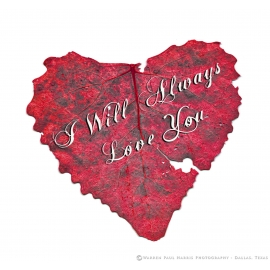 I Will Always Love You - Heart Shaped Leaf