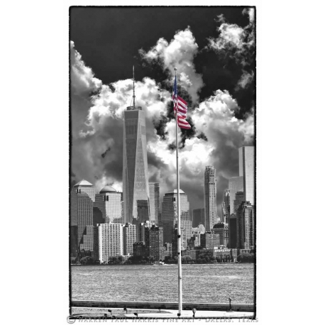 Freedom Tower Flag Selective Color