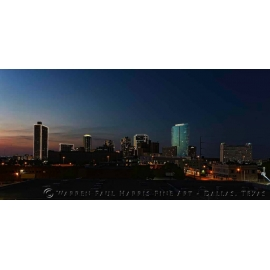 Fort Worth Sunset Skyline