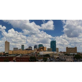 Fort Worth Daylight Skyline.