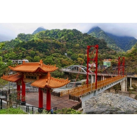 Taroko Gorge Temple Bridges