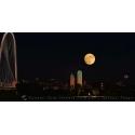 2016-Dallas Skyline SuperMoon Composite II