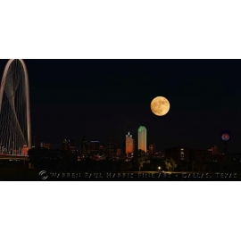 2016-Dallas Skyline SuperMoon Composite II