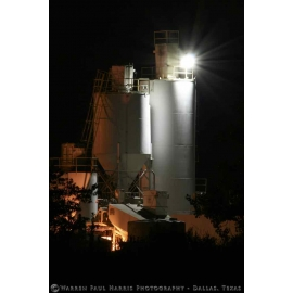 Frisco Cement Silo at Night