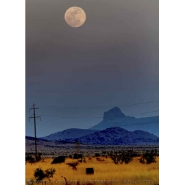 Moon Over Cathedral Mountain