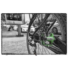 NYC Chained Green Pedal Selective Color