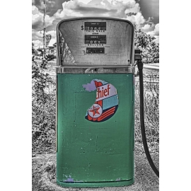 Texaco Chief Gas Pump - Selective Color - Route 66