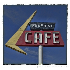 Midpoint Cafe Sign - Route 66