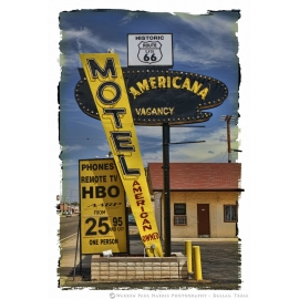 Motel American Sign Route 66