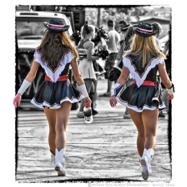 Drill Team Girls Selective Color