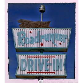 Roadrunner Drive-In Sign Route 66