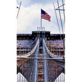 Brooklyn Bridge Flag - NYC