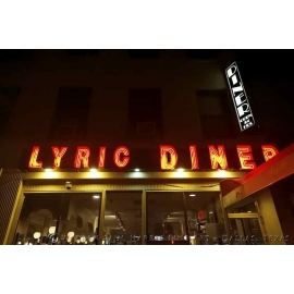 Lyric Diner at Night NYC