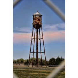 POW Water Tower Through a Fence