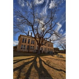 Blanco Courthouse Tree Shadow - Texas