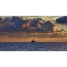 Oil Rig Sunrise Panorama