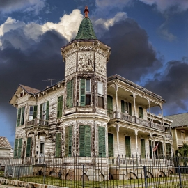 Weather-beaten Galveston Victorian