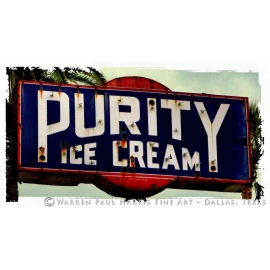 Purity Ice Cream Sign