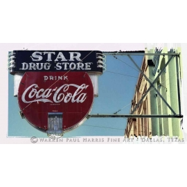 Star Drug Store Sign - Galveston