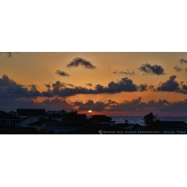 Galveston Sunrise July 2017 Panorama