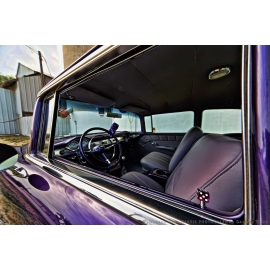Purple 55 Chevy Windows View
