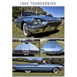 Blue 1964 T-Bird Poster