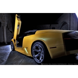 Yellow Lambo Rear Angle