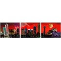 Dallas / Fort Worth Skyline Triptych 6' or 12'